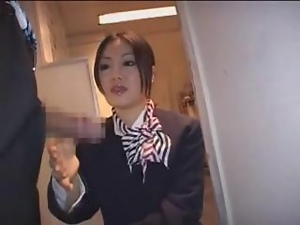Japanese Stewardess Handjob - Part 4