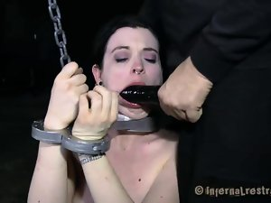 Torturing beauty with sex toys