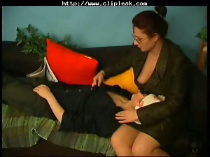 Russian Mature Teacher & Student Home Fuck