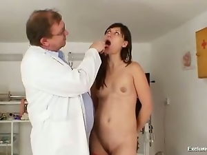 Kinky Gyno Doctor Fingers Pussy...