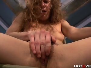 Hot brunette slut ava masturbates for you