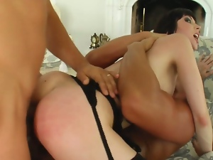 French slut ass creampied