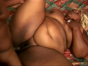 Filthy ebony fatty bends for black cock