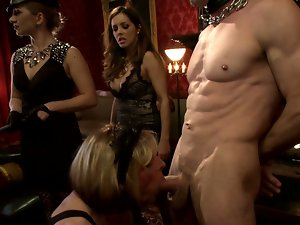 Bisexual sex party with sissy boys