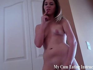 This perverse dommes make you eat your cum