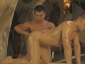 Gay hot erotic anal massage.