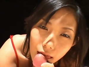 Yui komine eating cum asian slut