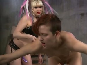 Blonde mistres starla punishes redhead slave ava