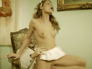 Skinny maid sophie mynx punished