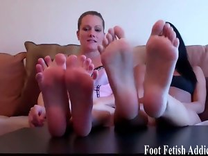 Naughty dommes tempt you with their feet