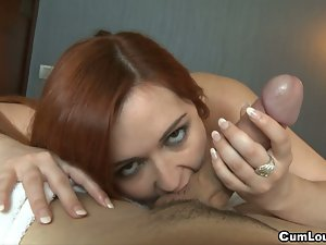 Angell summers gives a great pov blowjob