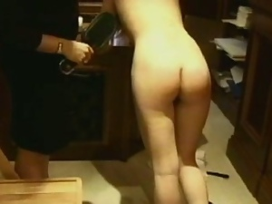 Teen ass hard caned