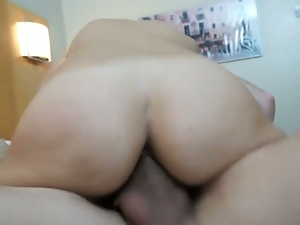 Slut latina cums over and over on a big dick