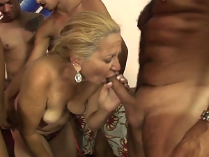Nasty blonde granny lara saint