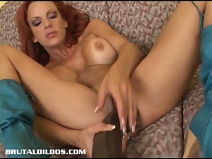 She loves to cum with bigger dildos