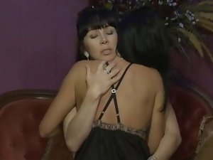 TWO Dark haired Housewives - SANGRIA AND SEX