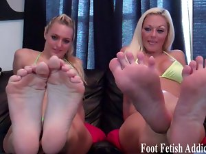 Get on your knees and worship our ideal feet