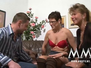MMV Films Pierced attractive mature dirty wife gets penis