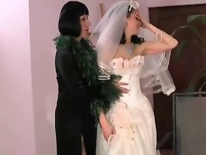 Monster stepmom seduces this filthy dark haired young lady