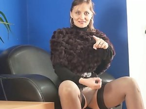 Filthy bitch instructs her wankers. JOI