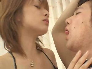Saeko Kimishima forced tongue kiss and spit
