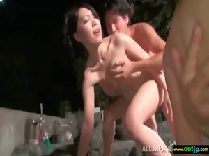 Sexual Sensual japanese Lass Love To Be Screwed Brutal Outdoor movie-28