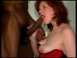 CHEATING REDHEAD Slutty wife Receives LOVERS Ebony Dick IN HER Butt AND MILK IN HER MOUTH!