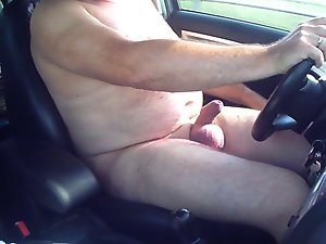 I am driving in my car nude and i am cumming