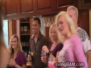 Pervs and lewd wives get ready for attractive swingers party