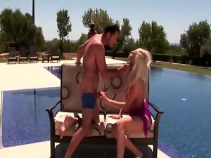 Teena Dolly rammed by her fellow by the poolside