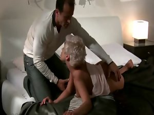 Raunchy couple oral skills event in their bedroom