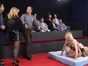 Claudia gets screwed by 13 cocks!