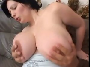 German cutie with fantastic knockers banged