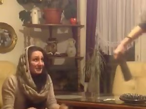 Luscious Bosnian Arab hijab dance