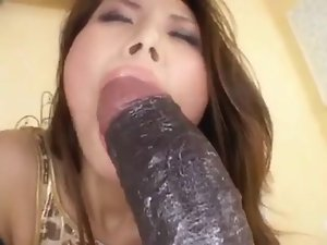 Sensual Asian Licks And Screws Her Rubber toy