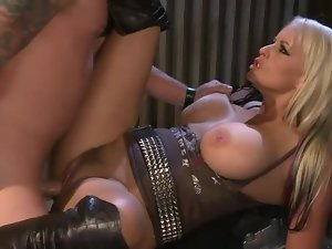 Biker chick with big tits fucked in the cunt