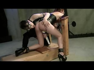 Whipped and Toyed On Her Knees