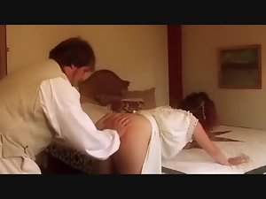 MILF Gets Her Ass Spanked Red