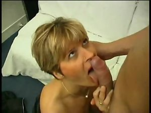 Horny milf with sexy stockings enjoys some sensual sex