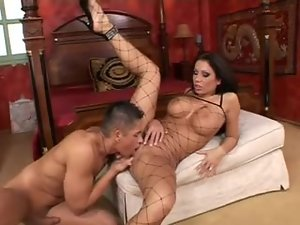 Incredible fake tits fuck slut wants anal