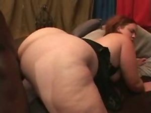 Fucking her BBW cunt and ass with BBC
