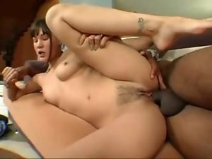 Hot pierced nipples girl and BBC