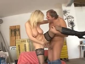 Heavily pierced pussy fucked by big cock