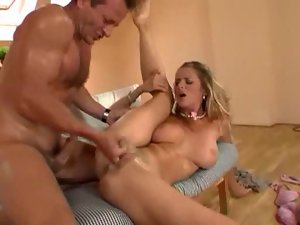 Euro girl in anal scene could not be hotter