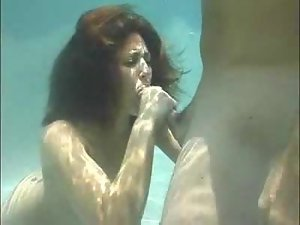 An incredible blowjob under the water