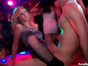 Hooking up with hot sluts at the club