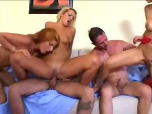Natural breasts Europeans fucked in fivesome