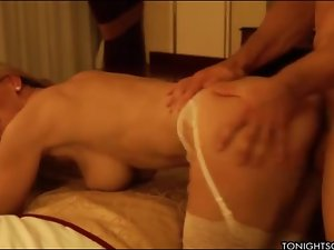 Man makes love to a gorgeous blonde escort