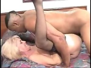 Granny in a hotel room taken by a big black dick