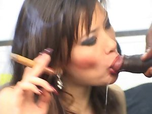 Escort Ella smoking fetish cum shot cigar